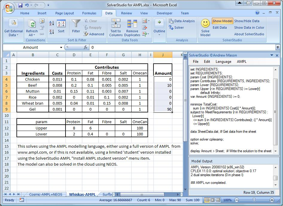 SolverStudio for Excel | An integrated environment for ...